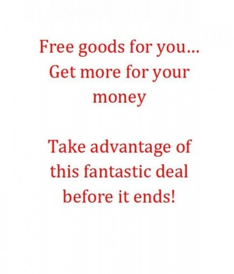 Free goods for you!